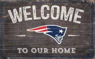"New England Patriots 11"" x 19"" Welcome to Our Home Sign"