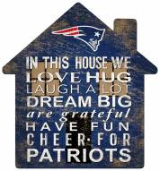 "New England Patriots 12"" House Sign"