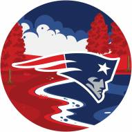 "New England Patriots 12"" Landscape Circle Sign"