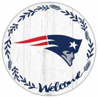 "New England Patriots 12"" Welcome Circle Sign"