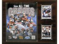 """New England Patriots 12"""" x 15"""" All-Time Great Plaque"""