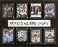 """New England Patriots 12"""" x 15"""" All-Time Greats Plaque"""