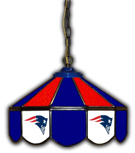 "New England Patriots 14"" Glass Pub Lamp"
