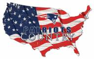"New England Patriots 15"" USA Flag Cutout Sign"