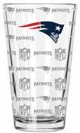 New England Patriots 16 oz. Sandblasted Pint Glass