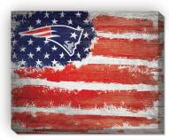 "New England Patriots 16"" x 20"" Flag Canvas Print"