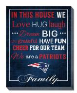 "New England Patriots 16"" x 20"" In This House Canvas Print"