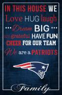 "New England Patriots 17"" x 26"" In This House Sign"