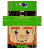 "New England Patriots 19"" x 16"" Leprechaun Head"