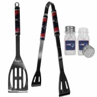New England Patriots 2 Piece BBQ Set with Salt & Pepper Shakers