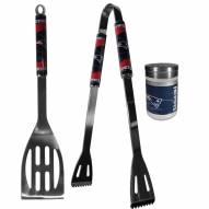 New England Patriots 2 Piece BBQ Set with Season Shaker