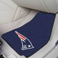 New England Patriots 2-Piece Carpet Car Mats