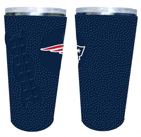 New England Patriots 20 oz. Stainless Steel Tumbler with Silicone Wrap