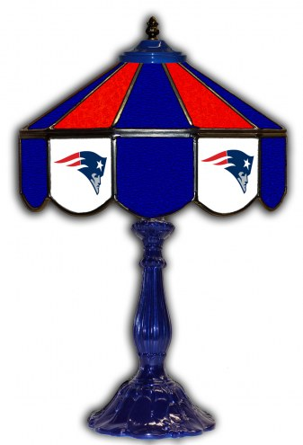 """New England Patriots 21"""" Glass Table Lamp"""