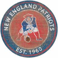 "New England Patriots 24"" Heritage Logo Round Sign"