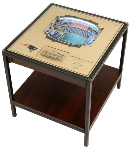 New England Patriots 25-Layer StadiumViews Lighted End Table