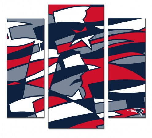New England Patriots 3 Piece Wall Art