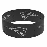 """New England Patriots 36"""" Round Steel Fire Ring"""