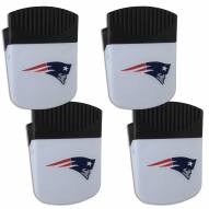 New England Patriots 4 Pack Chip Clip Magnet with Bottle Opener