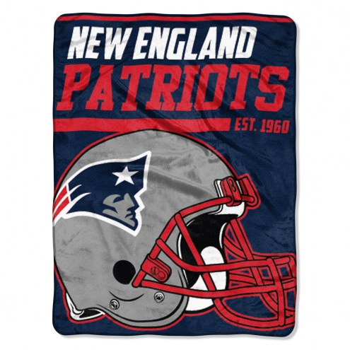 New England Patriots 40 Yard Dash Blanket