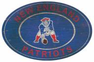 "New England Patriots 46"" Heritage Logo Oval Sign"