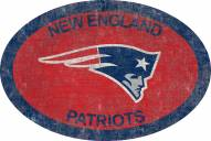 "New England Patriots 46"" Team Color Oval Sign"