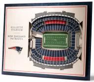 New England Patriots 5-Layer StadiumViews 3D Wall Art