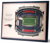 New England Patriots 5-Layer StadiumViews 3D Wall Art