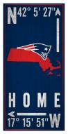 "New England Patriots 6"" x 12"" Coordinates Sign"