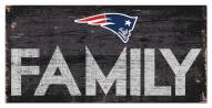 "New England Patriots 6"" x 12"" Family Sign"