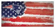 "New England Patriots 6"" x 12"" Flag Sign"