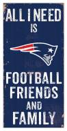 "New England Patriots 6"" x 12"" Friends & Family Sign"