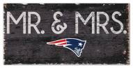 "New England Patriots 6"" x 12"" Mr. & Mrs. Sign"