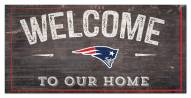 """New England Patriots 6"""" x 12"""" Welcome Sign"""