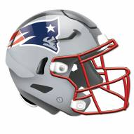 New England Patriots Authentic Helmet Cutout Sign