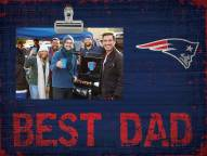 New England Patriots Best Dad Clip Frame