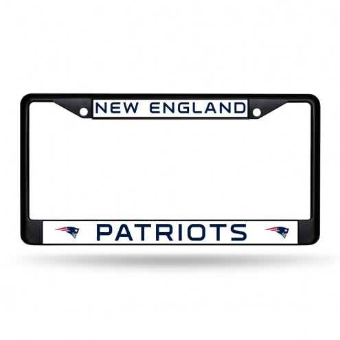 New England Patriots Black Metal License Plate Frame