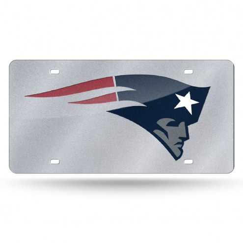 New England Patriots Bling License Plate