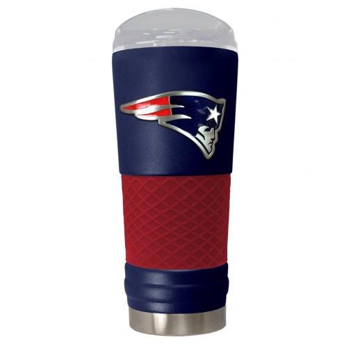 New England Patriots Blue 24 oz. Powder Coated Draft Tumbler
