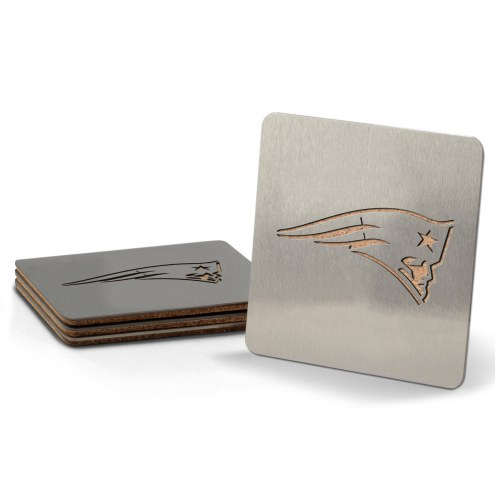New England Patriots Boasters Stainless Steel Coasters - Set of 4