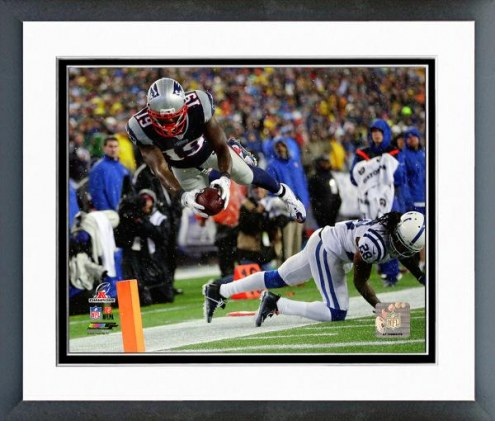 New England Patriots Brandon LaFell AFC Championship Game 2014 Playoffs Framed Photo