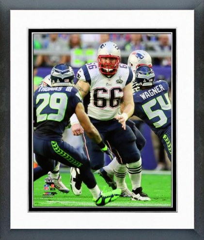 New England Patriots Bryan Stork Super Bowl XLIX Images Action Framed Photo