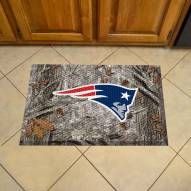 New England Patriots Camo Scraper Door Mat