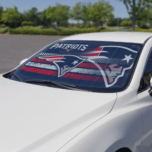 New England Patriots Car Sun Shade