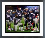 New England Patriots Celebrate AFC Championship Game Playoffs Framed Photo