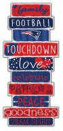New England Patriots Celebrations Stack Sign