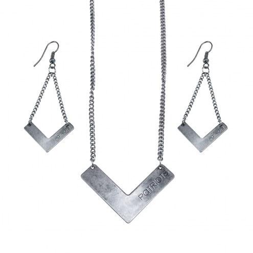 New England Patriots Chevron Jewelry Set