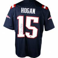 New England Patriots Chris Hogan Signed Nike Color Rush Limited Navy Jersey