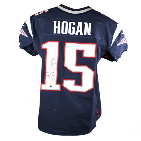 New England Patriots Chris Hogan Signed Nike Elite Authentic Navy Jersey