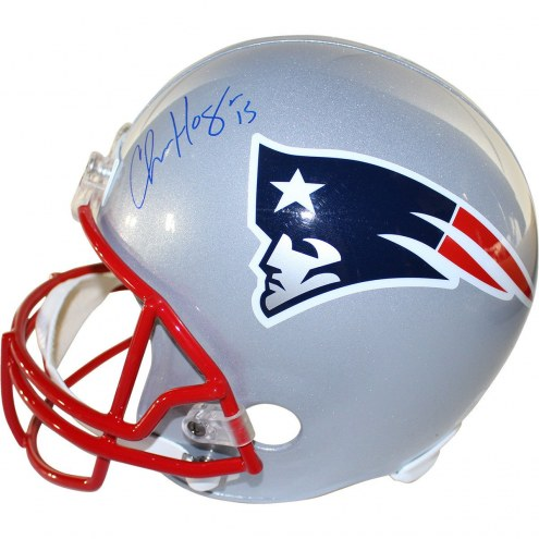 New England Patriots Chris Hogan Signed Replica Full Size Helmet